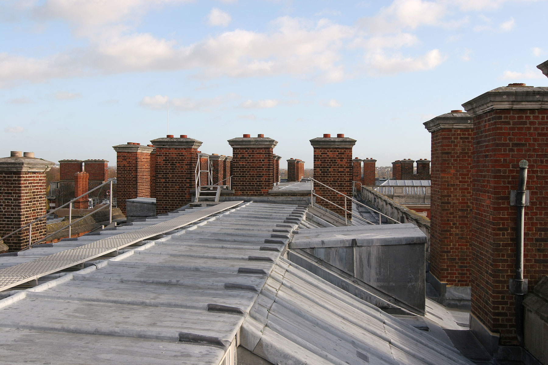 Hampton Court Palace lead roof GHK Architects